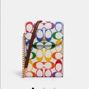 Coach crossbody bag purse rainbow new